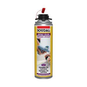 Aerossol de limpeza que remove espuma não curada e limpa ferramentas, como a pistola