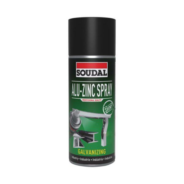 Spray com composto de alumínio-zinco para usar em carroçarias, braçadeiras de calhas e costuras de solda