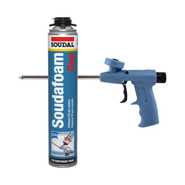 Espuma PU para utilização com pistola para instalação de caixilhos de portas e janelas